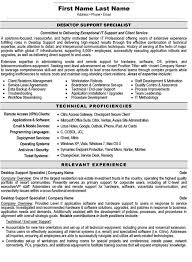 Desktop Support Resume Examples Simple Support Specialist Resume