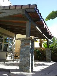 custom wood patio covers.  Patio Backyard Patio Cover Design With Stone Pillars Tile Roof Tongue And  Groove Ceiling Throughout Custom Wood Patio Covers W