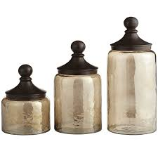 Rustic Kitchen Canisters Sundarra Glass Canisters Pier 1 Imports