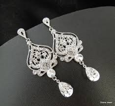 bridal earrings swarovski teardrop chandelier earrings long rhinestone earrings wedding crystal earrings statement bridal earrings stella