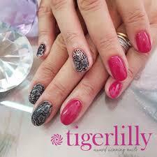 winter lace nails salon westbourne tigerlillynails bournemouth bournemouthnails notd nailspo nailart cnd acrylic acrylicnails ibd ibdgel