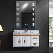 mirror lighting bathroom. Bathroom 60 Leds Mirror Light Fog Demister Clock With Toothbrush/Shaver Socket Lighting