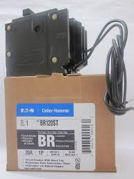 cutler hammer shunt trip breaker wiring diagram cutler br120st 1 pole 20a plug in 120 240 vac type br shunt trip on cutler hammer