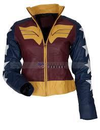 gal gadot wonder women dawn of justice leather jacket uk