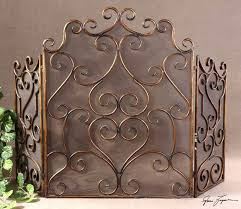 antique gold fireplace screen flat brushed decorative screens mesh