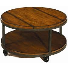 Vintage Umber Round Coffee Table With Wheels Modern Coffee Tables On Wheels