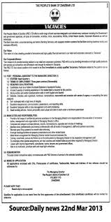 Personal Assistant Job Description Personal Assistant to the Managing Director TAYOA Employment Portal 1