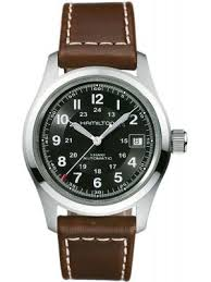 mens military watches creative watch co hamilton men s khaki field 38mm automatic watch on brown strap