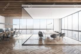 New York Office Interior Design Contemporary Office Interior With New York City View Workplace