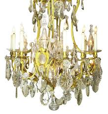 french 19th century gilt bronze and crystal chandelier from the spelling manor for
