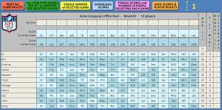 2017 Nfl Weekly Schedule Excel Spreadsheet New Cars Update 2019