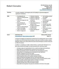 Head Pastry Chef Sample Resume