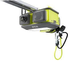 ryobi garage door opener car remote safety sensor quiet 1 25 hp belt wifi