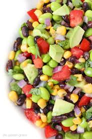 we love this easy 8 ing nutrient packed salad with a double protein punch edamame black beans all tossed with a super simple squeeze of lime