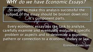 guidelines for economics essay writing  economics essay writing itself 3