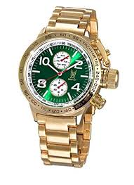 mens gold wrist watch metal band green dial large face mens gold wrist watch metal band green dial large face multifunction day date konigswerk aq101100g