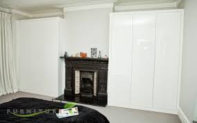 fitted wardrobe design high gloss doors closed