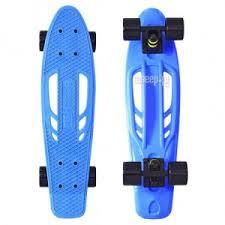 <b>Скейт</b> Y-Scoo Skateboard Fishbone 22 Blue-Black 405-<b>B</b>