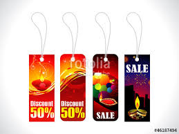 "Abstract Diwali Sale Tag Template"" Stock Image And Royalty-Free ..."