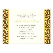 Leopard Graduation Invitations Combined With Sassy Leopard Print