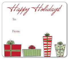 Christmas Present Gift Tags