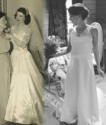 vintage wedding gown and antique wedding dress redesign and