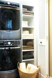 washer dryer closet stacked washer and dryer in closet standard washer dryer closet dimensions