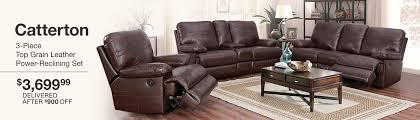 images of furniture. Unique Images Catterton 3Piece Top Grain Leather PowerReclining Set 369999 Delivered  After 900 OFF  For Images Of Furniture