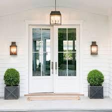 white double front door. Doors, Double Front Doors Modern White Outdoor Wall With Door S