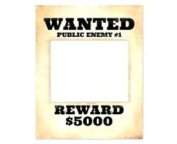 Make A Wanted Poster Free Online Printable Wanted Poster Template Most Wanted Poster Te
