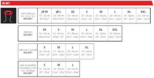 3 5 Size Chart Helmet Gpx 3 5 Jr V20 2 Orange Dot Ece