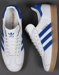 adidas gazelle leather trainers white royal gum