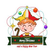 Weihnachts Und Neujahrshintergrund Mit Elfenjungen