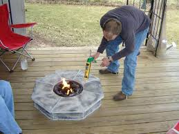 gas fire pits for decks fire pit for wood deck outdoor gas fire pits for decks