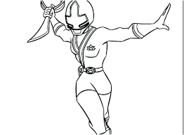 Power Ranger Coloring Pages Free Printable Rangers Amazing Cool