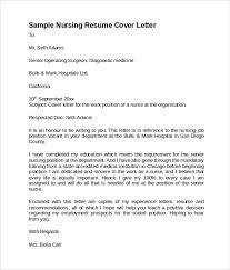 Cover Letter Temlate Sample Nursing Cover Letter Template 8 Download Free