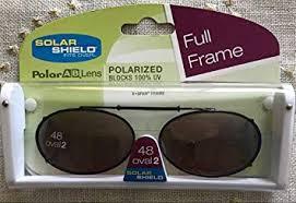Solar Shield Size Chart 48 Oval 2 Solar Shield Polarized Gray Lenses Full Frame Clip On Sunglasses