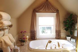 Small Cottage Window Curtain For Bathroom Windows Luurious With Beautiful  Pink Flower And Warm Candles ...