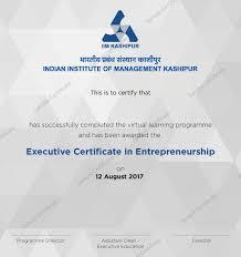 Online Entrepreneurship Courses Executive Certification Course