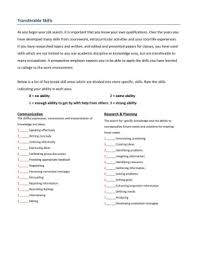 Transferable Skills Worksheet 4 Transferable Skills Worksheet Kaylee Ross