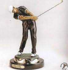 the golfer bronze statue for