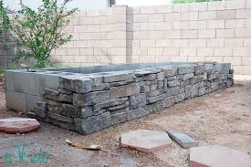 materials for building a raised herb garden bed concrete cinder blocks