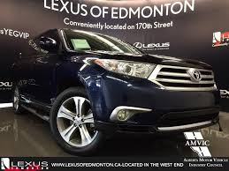 Used Blue 2011 Toyota Highlander 4WD Review | Airdrie Alberta ...
