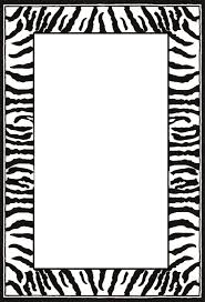 white rug with animal print border