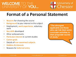 Personal Statement Outline Ucas Personal Statement Work Experience