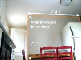 cost to remove a non load bearing wall average cost of removing a load bearing wall