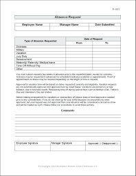 Free Time Off Request Form Template Request For Time Off Template 22