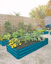corrugated metal raised garden beds. Multiple Corrugated Metal Raised Beds In Storm Blue Planted With Flowers And Vegetables Garden