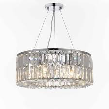 Lighting By Pecaso Contour Flush Mount Chrome Chandelier Intorno 18 Inch Hanging Chandlier With Clear Crystals 8803 18