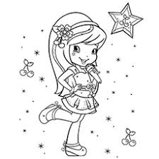 shortcake cartoon coloring pages cherry jam of strawberry shortcake